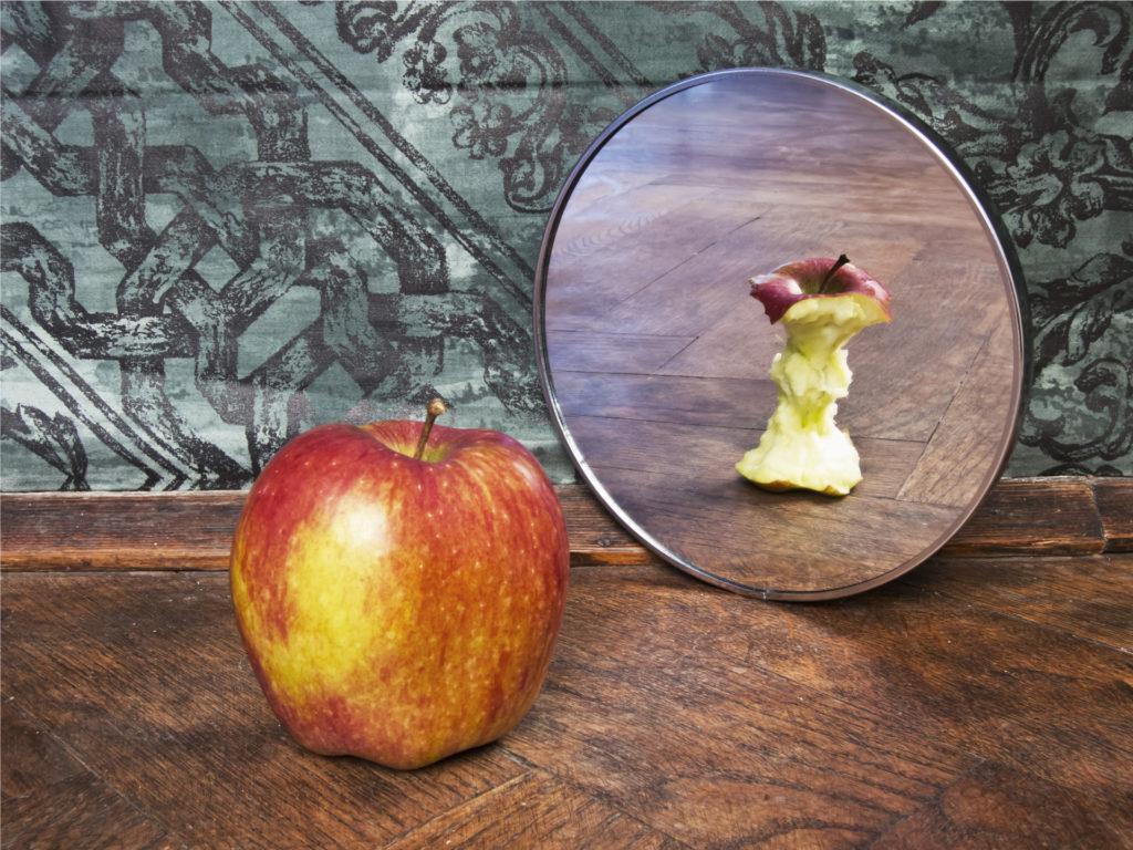 imagen manzana espejo