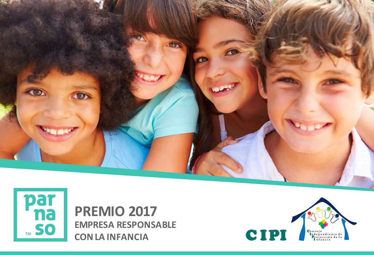 Premio 'Empresa Responsable con la Infancia 2017' para Parnaso - Parnaso