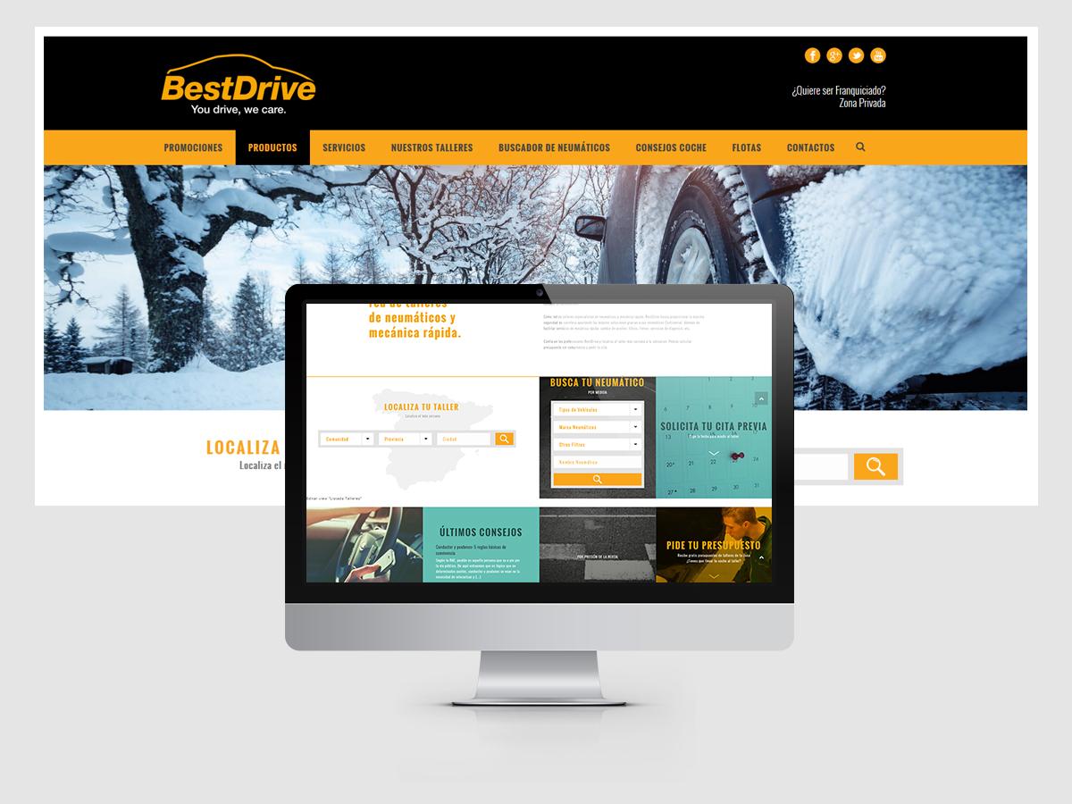 Diseño y programación web para BestDrive España - Parnaso