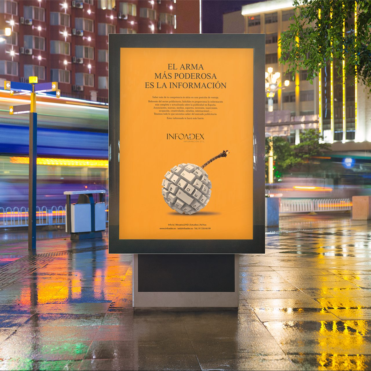 Campaña publicidad para Infoadex - Parnaso