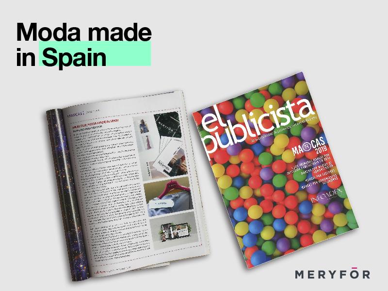 Meryfor en la revista El Publicista, moda made in Spain - Parnaso