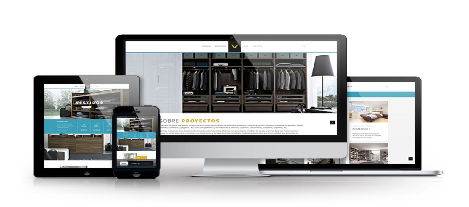 """Nuevo proyecto diseño web y desarrollo para """"El Vestidor"""" 4"""