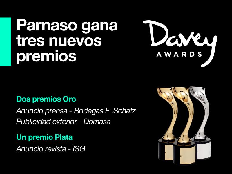 Nuevos éxitos internacionales de Parnaso en el Davey Awards - Parnaso