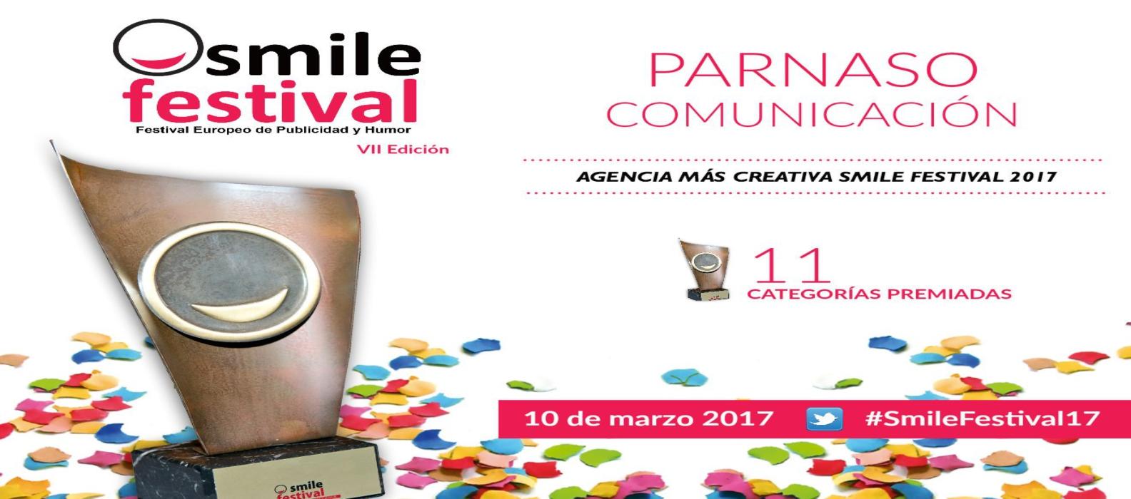 """Parnaso """"Agencia más creativa"""" en el Smile Festival Europeo - Parnaso"""