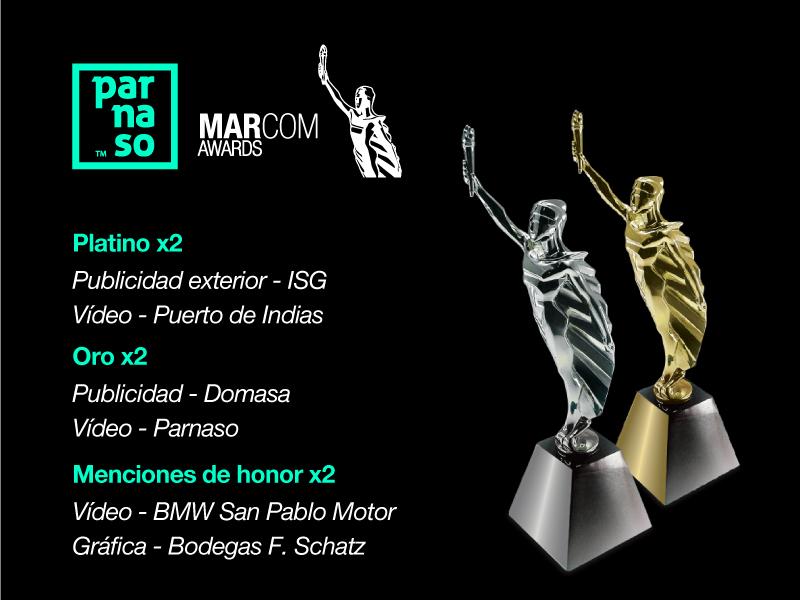 Parnaso consigue 6 premios en el Festival Marcom Awards - Parnaso