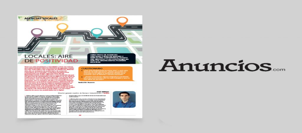 Parnaso Comunicación participa en la revista Anuncios - Parnaso