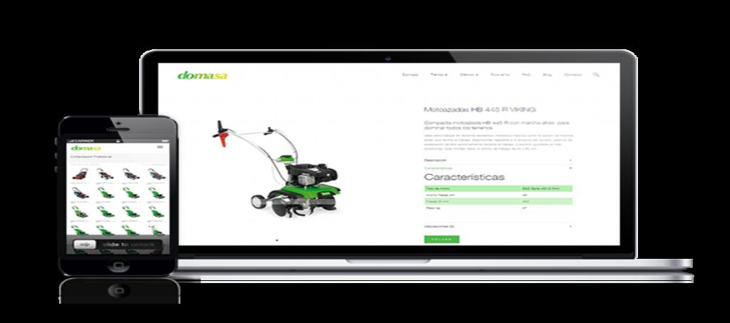 Nuevo diseño y programación web corporativa para Domasa - Parnaso