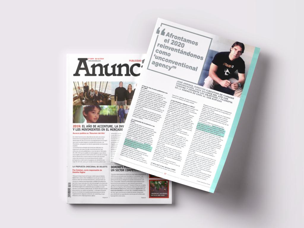 Entrevista a José Arribas León, en la revista de prensa Anuncios - Parnaso