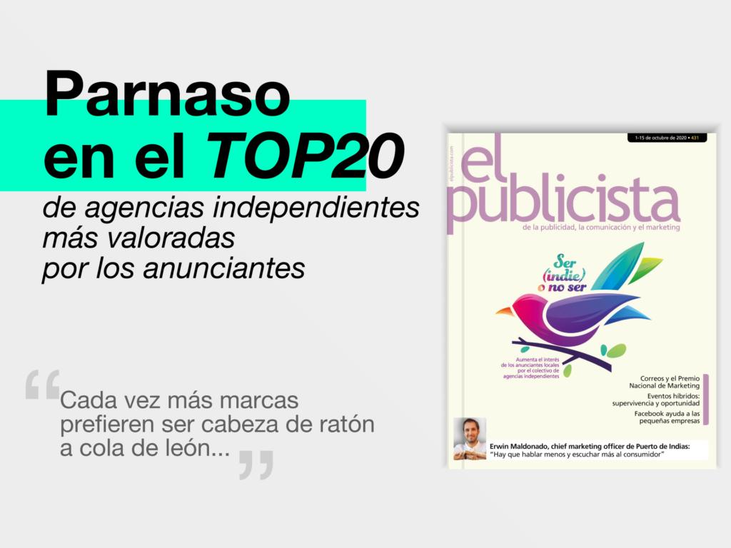 Parnaso en el TOP20 de las agencias mas deseadas por los anunciantes_ELPUBLICISTA