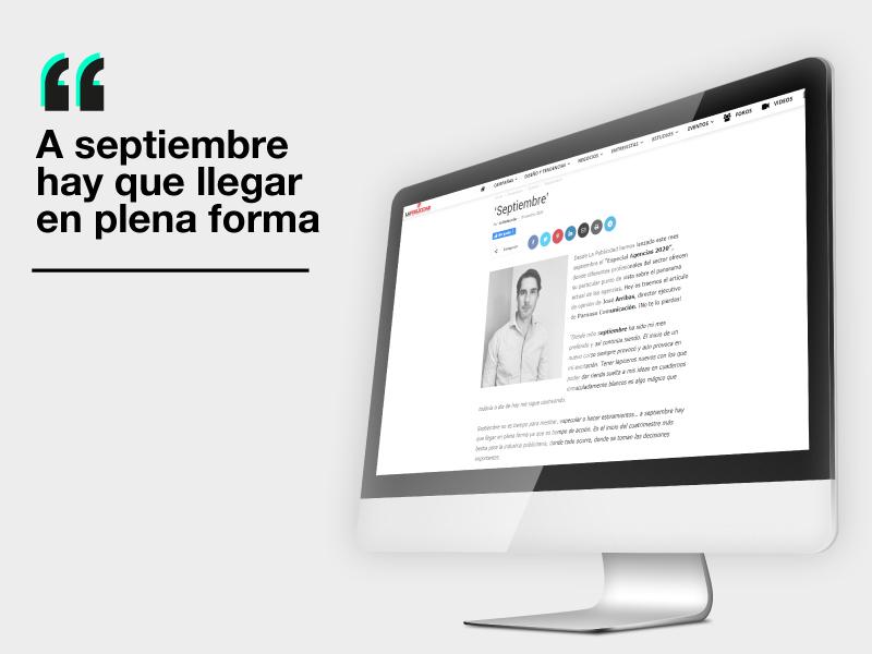 """""""Septiembre"""" Artículo de opinión de José Arribas para La Publicidad - Parnaso"""