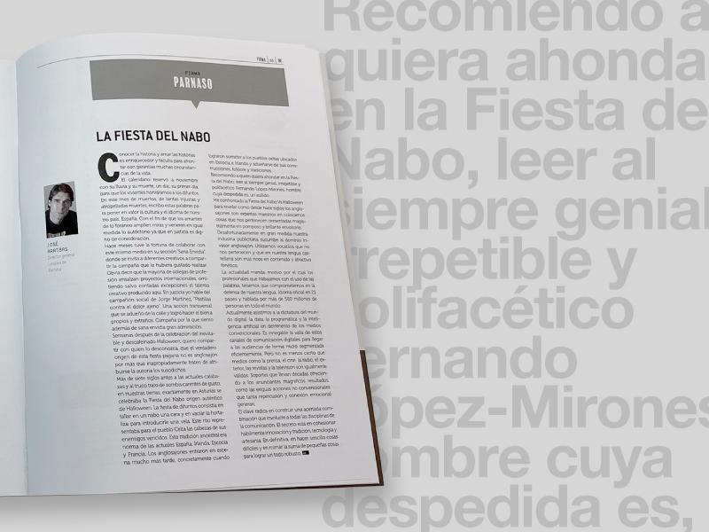La Fiesta del Nabo, nuevo artículo de José Arribas para CTRL Publicidad - Parnaso