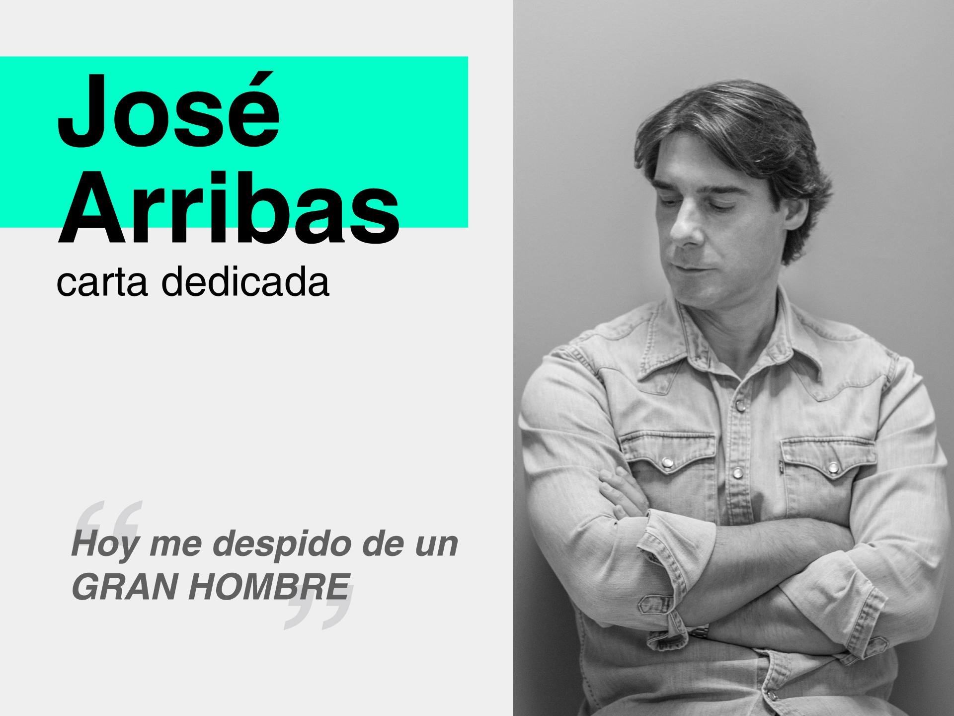 Carta de despedida a Miguel Ángel Sánchez Revilla. - Parnaso