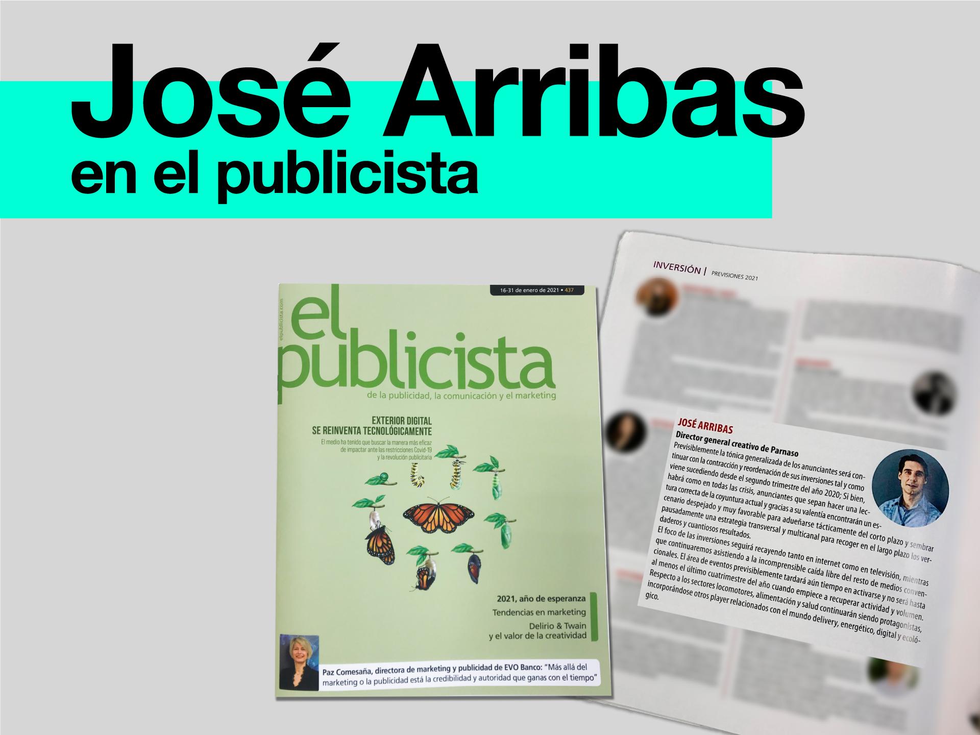 José Arribas León, en el último número de El Publicista - Parnaso