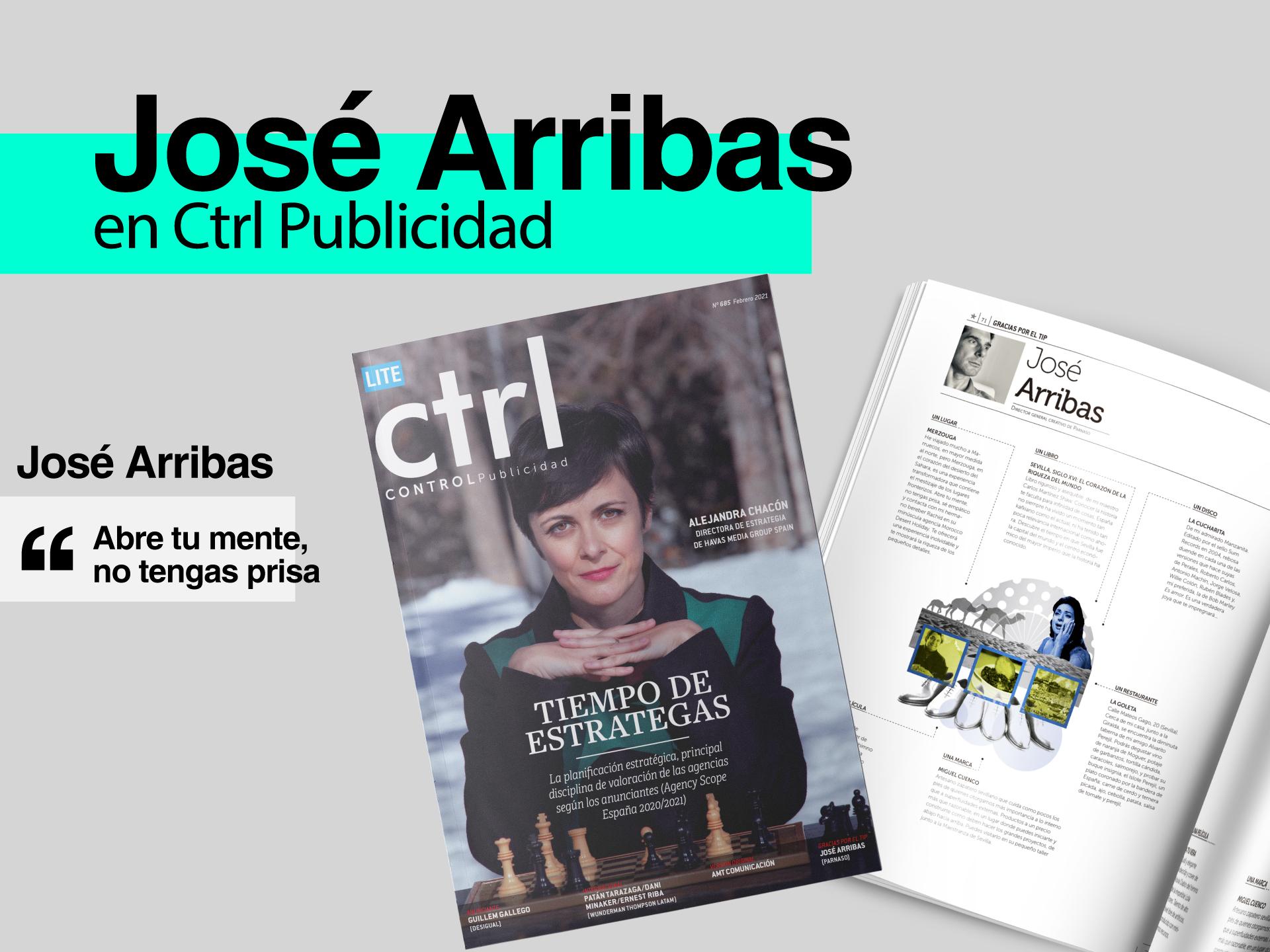 """José Arribas en la sección """"Gracias por el tip"""" de CTRL Publicidad - Parnaso"""