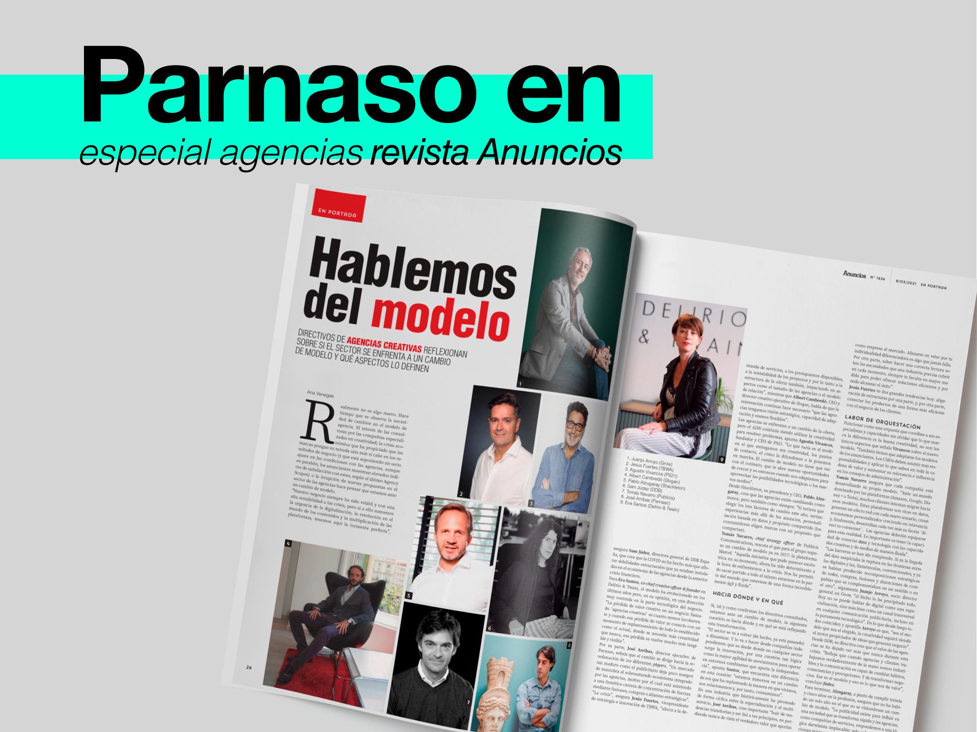 Parnaso en el Especial Agencias de la Revista Anuncios - Parnaso