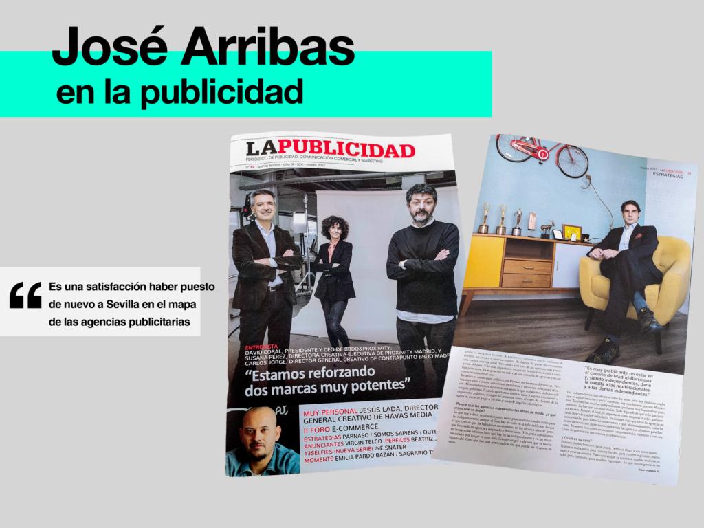 Entrevista a José Arribas León, en el medio La Publicidad - Parnaso
