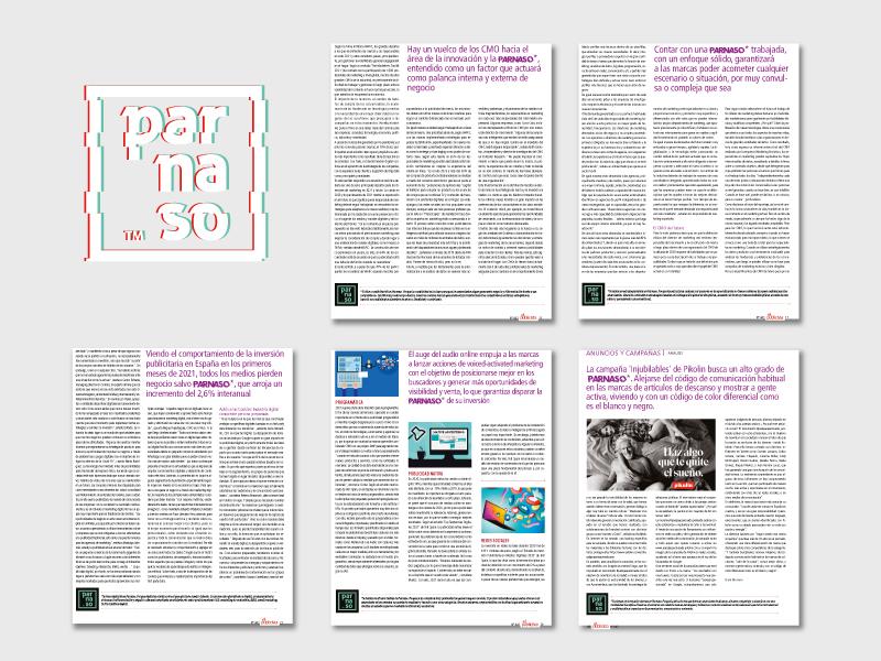 Colaboración de Parnaso con la revista El Publicista - Parnaso