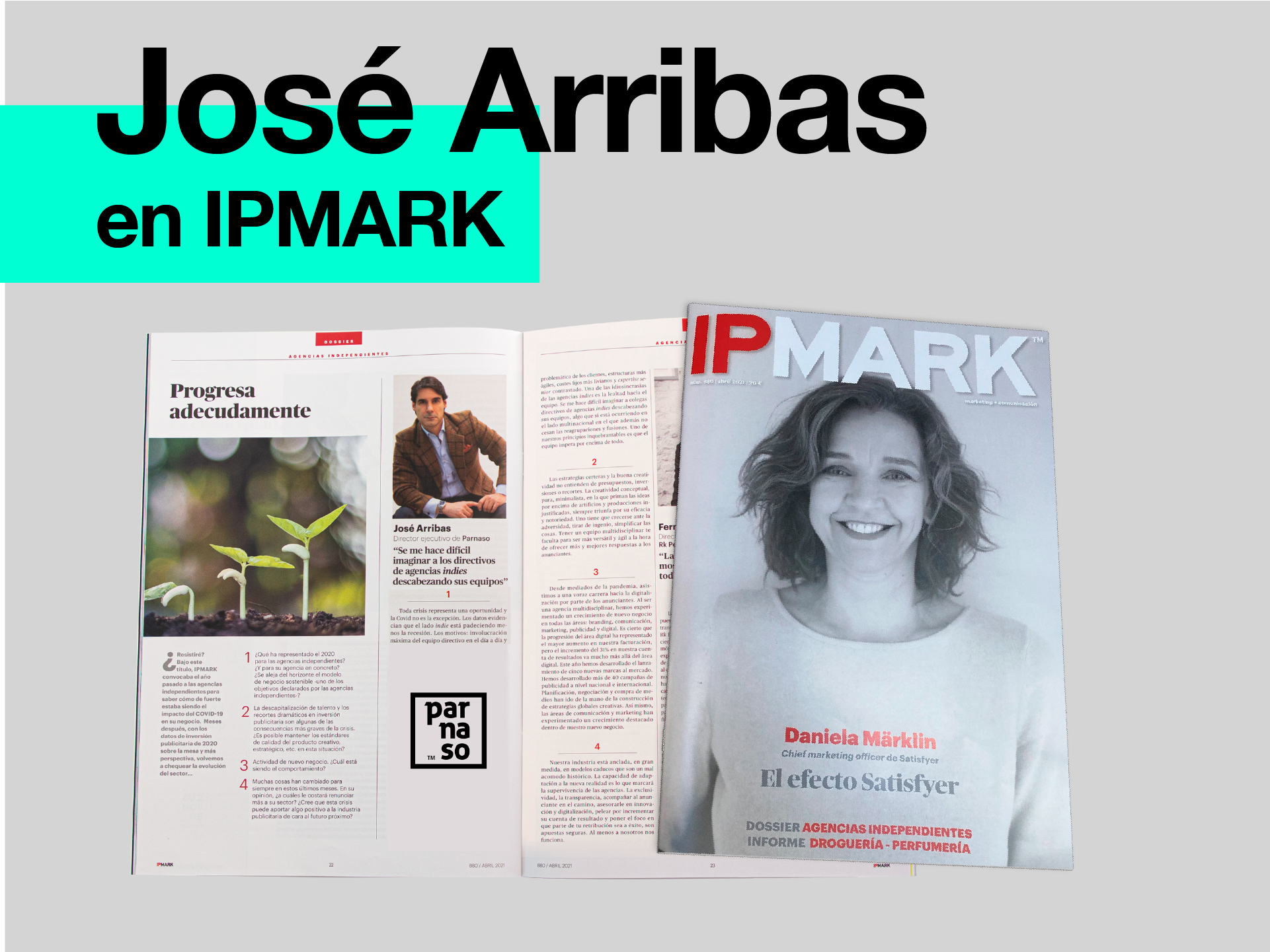 Parnaso en el número de abril de IPMARK - Parnaso
