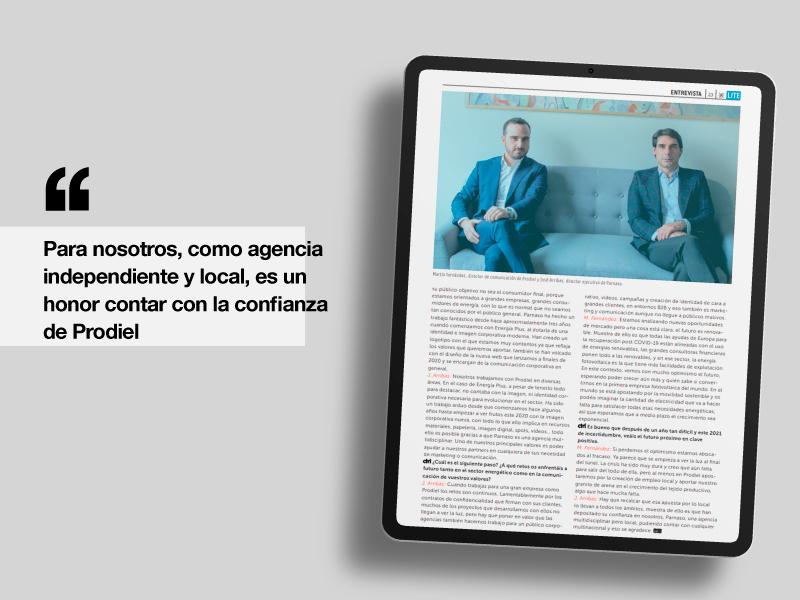 Parnaso Comunicación y Prodiel en CTRL Publicidad - Parnaso