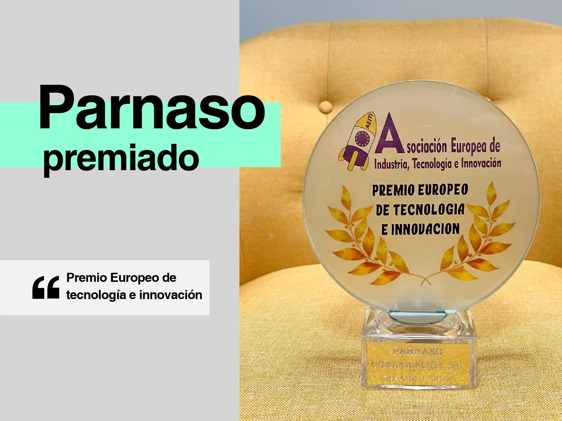 Parnaso recibe el Premio Europeo de Tecnología e Innovación