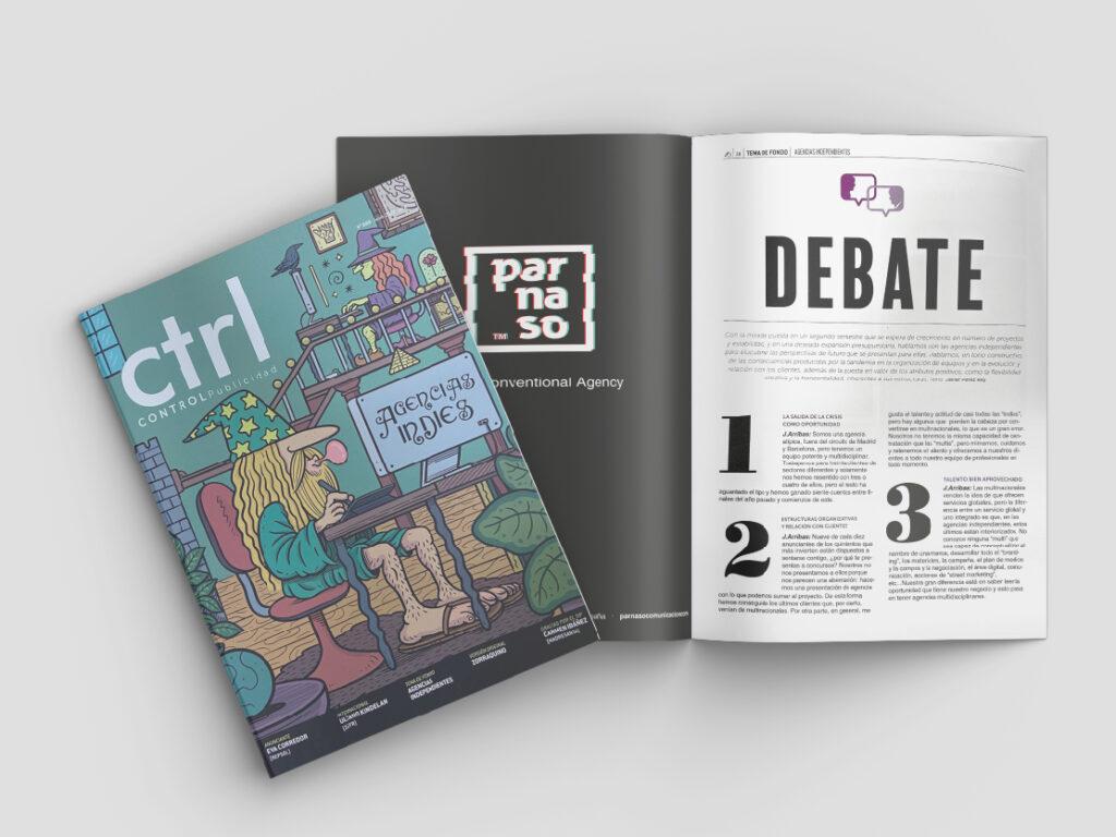 José Arribas en el nuevo número de la revista CTRL Publicidad - Parnaso