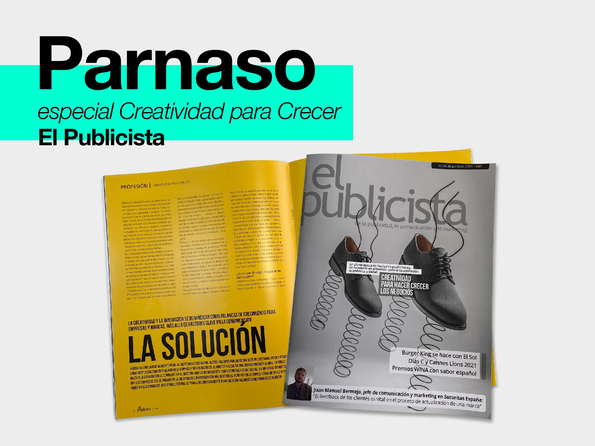 Parnaso en el nuevo número de la revista El Publicista - Parnaso
