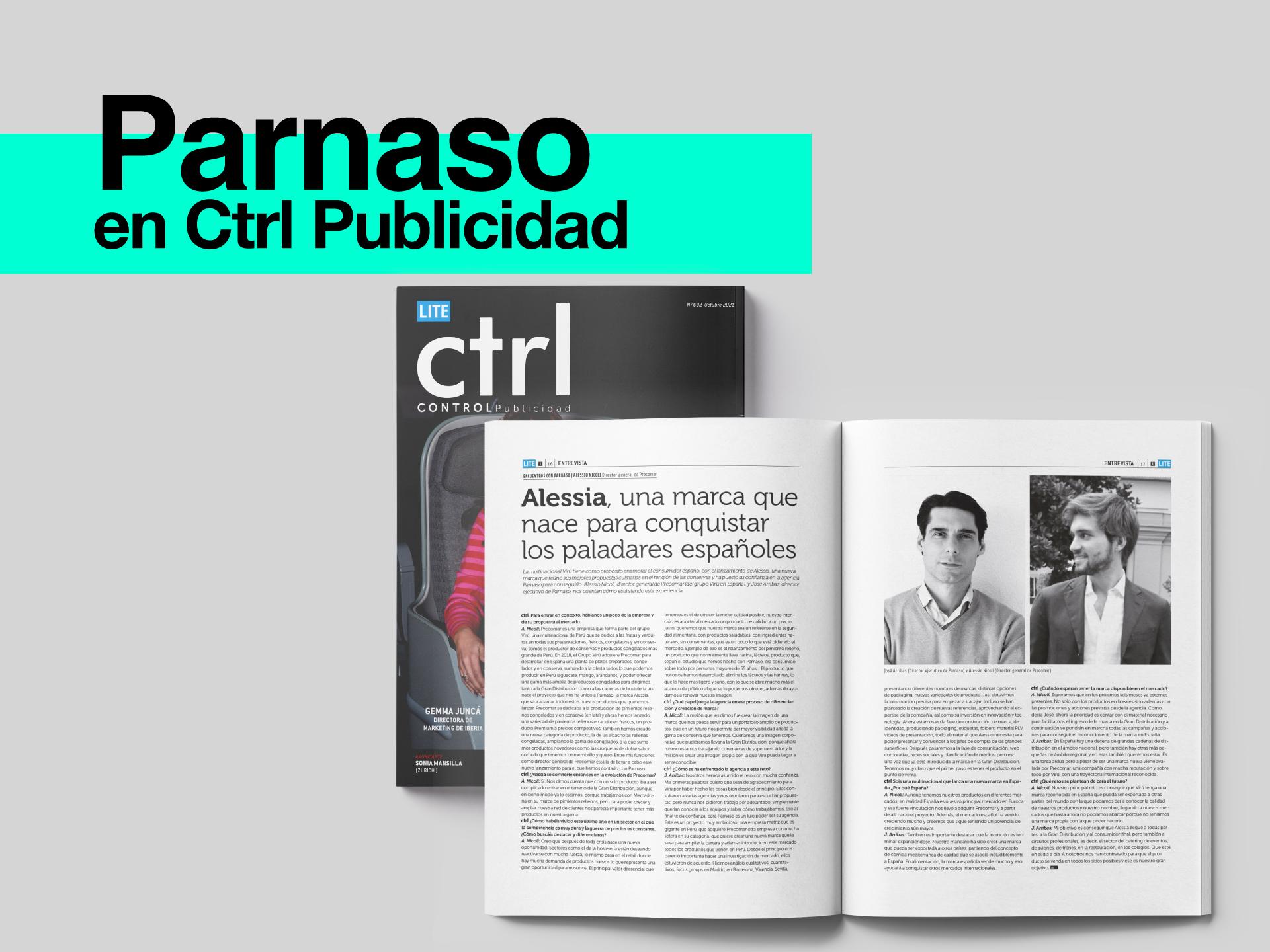 Parnaso en el nuevo número de la revista CTRL Publicidad - Parnaso