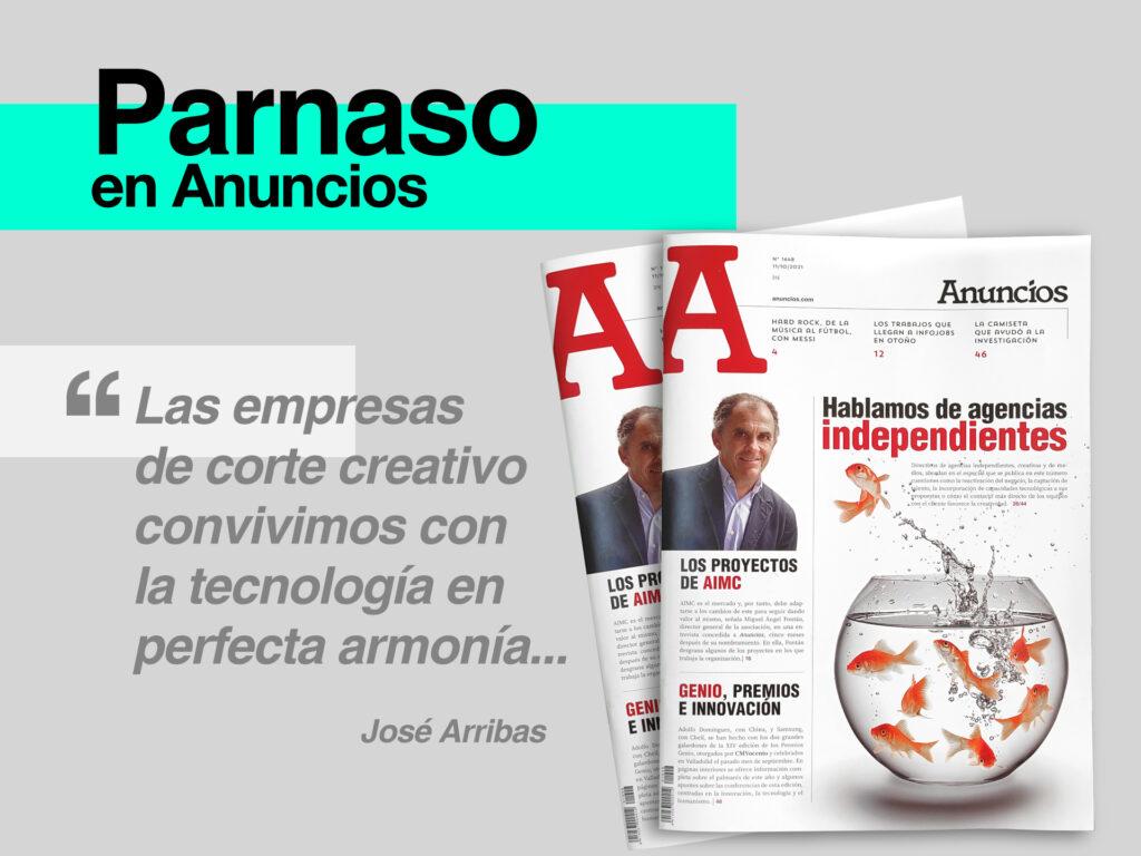 Parnaso en el especial agencias independientes de la revista Anuncios - Parnaso