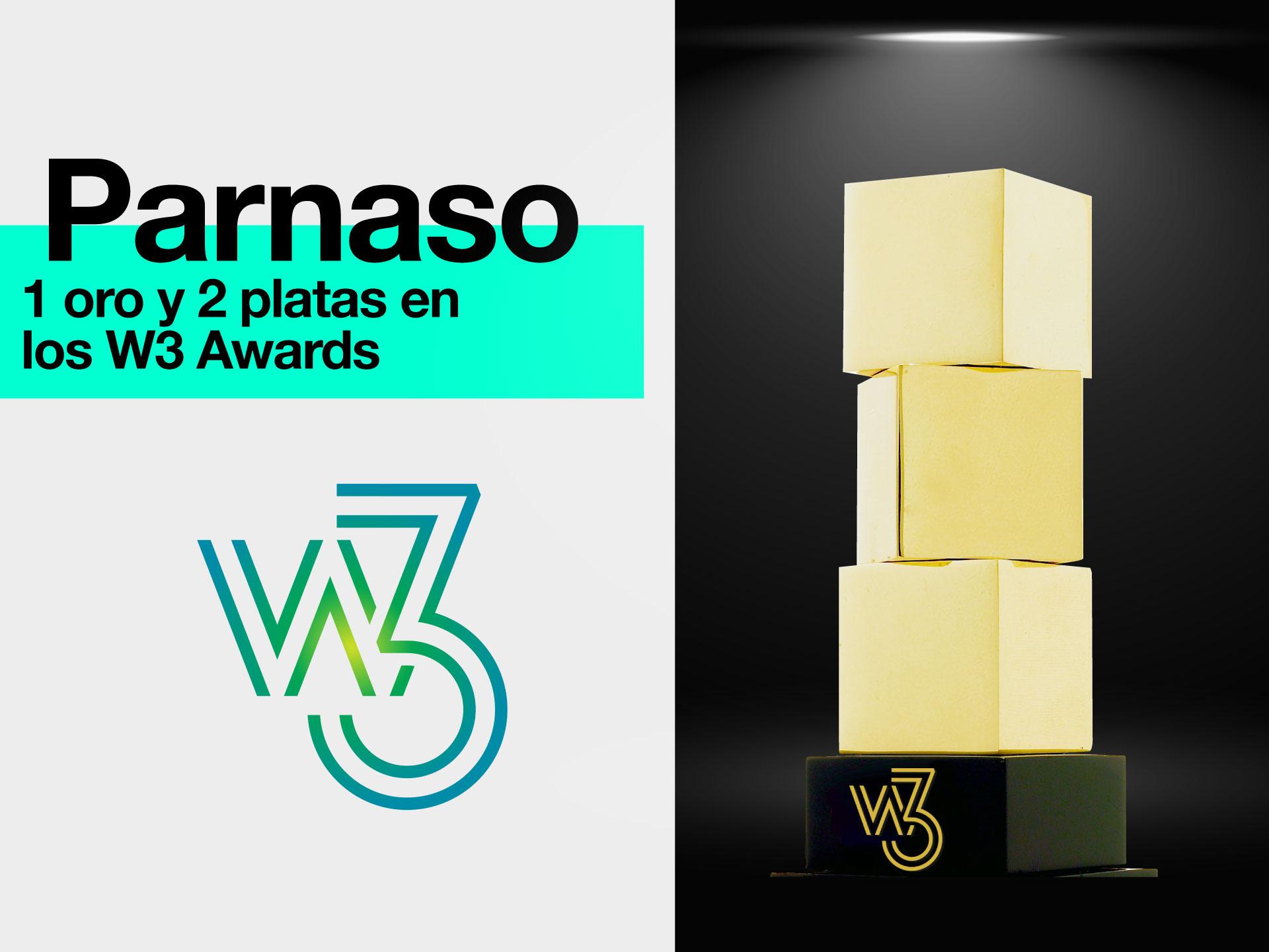 Parnaso logra 1 oro y 2 platas en 16º edición de los W3 Awards - Parnaso