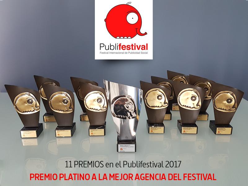 11 publifestival y premio platino como mejor agencia del festival - Parnaso